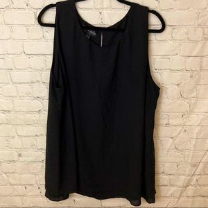 Love & Legend black double layer sleeveless top